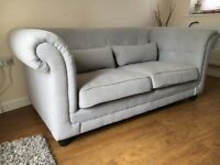 2 Seater Chesterfield style Fabric Sofa