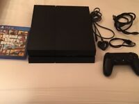 Ps4 500 gb. Hardly used,new condition. 1 controller+cables+game GTA5 £180 NO OFFERS. CAN DELIVER