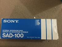 Sony microphone shoe