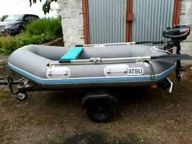 Dinghy and outboard