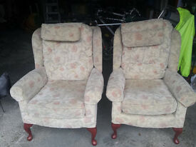 Two HSL arm chairs, excellent condition.
