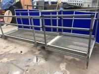 Custom built disability / access ramp. Galvanised steel 4.150m length.