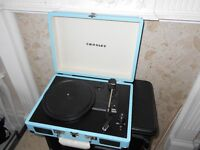 crossley record player/turntable