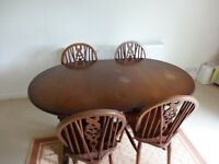 Wooden Extendable Dining Table & 4 Chairs