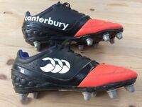 Canterbury rugby boots in excellent condition only used for one season - adult size 9
