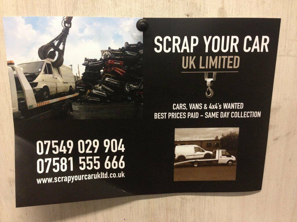 scrap your car uk ltd cars vans wanted same day collection best ...