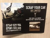 scrap your car uk ltd cars vans wanted same day collection best prices paid