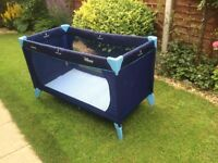 travel cot, in excellent condition