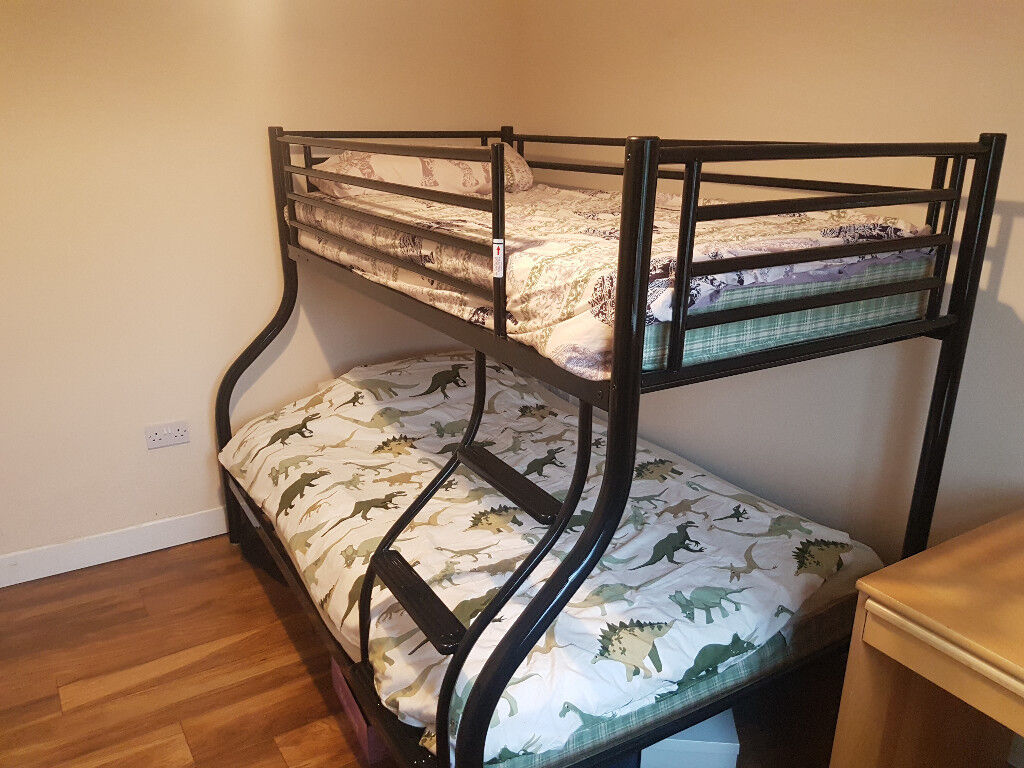 Jay Be Triple Sleeper Bunk Bed Strong And Sturdy Thick