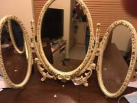 Vintage dressing table mirror.