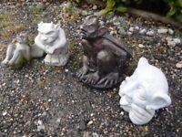 4 Garden Devils / gargoyles
