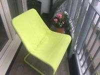 Lime green Ikea garden chair