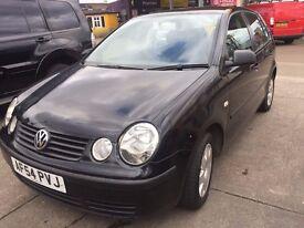 VW Volkswagen Polo 5 Door ,Good Condition Black
