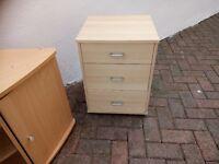 TV unit and bedside drawer unit for sale