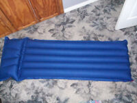 New / Unused Single Air Bed with Attached Pillow