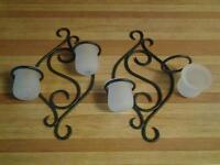 PARTYLITE SCROLL SCONCES