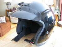 2) g max motorcycle helmets with sun visor / like new /black