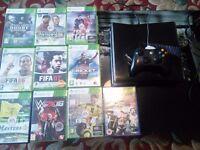 Xbox360 + 10 games