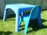 Mothercare plastic table and chair - used in good condition