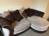 Two sofas. One large double corner sofa £150 AND a double sofa bed £250 (can be bought separately)