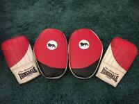 Lonsdale boxing gloves and pads