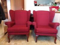 2 Queen Anne Armchairs