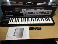 Roland A-49 MIDI Controller Keyboard - Black NEW