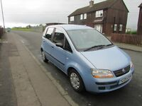 Fiat Idea Active 1.3 Turbo Diesel 2005,11 Months M.O.T, 12 Service Stamps, Tinted Windows,New Clutch