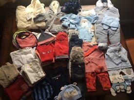 Huge bundle of baby boy clothes, 3-6 months