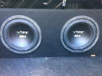 """Vibe 12"""" twin pulse alloy 3 series subwoofer"""