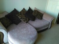 DFS 4 Seat Sofa & Swivel Cuddle Chair