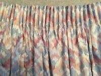 "Pair of Fully Lined Curtains. Drop 58"" approx."