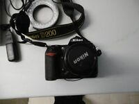 Nikon D200 with Nikon 28-80 Zoom lens, Ring Flash Plus 24 Square Filters and Holder plus extras