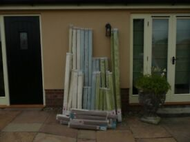 Blinds, large assortment of over 100 blinds, some matching, including fabric, wood, pvc and metal