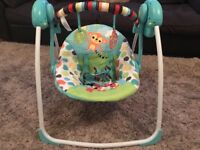 Baby swing with 6 speeds