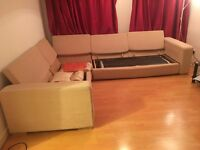 Corner sofa and double bed