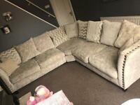 Scs Rihanna corner sofa scatter back