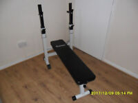 COSTWAY, ADJUSTABLE FOLDING SIT UP BENCH BARBELL WEIGHT DIP STATIONLIFTING CHEST PRESS