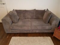 Grey Corner and Two Seater Sofa