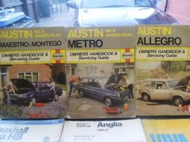 old car owners handbooks