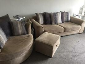 Three piece settee set