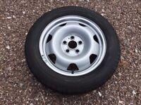 """Single Genuine 17"""" VW Transporter Steel Wheel T5 T6 215/60R17C Continental Tyre"""