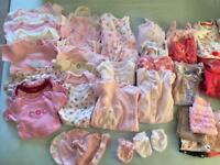 Big Baby Girls Clothes Bundle Newborn/0-3