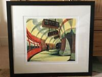 Cyril Power Limited edition numbered print 'The tube station' London New and framed
