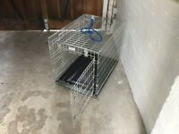 Dog Crate or Cage. Medium sized. Never used, double door, folds flat, MTM England made.