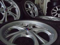 """18"""" DEEP DISH M SPORT bmw Alloys Wheels 3 5 Series Vw T5 E36 E46 e30 e39 z3 z4"""