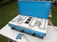 gas camping cooker / camping gaz with gas pipe and regulator