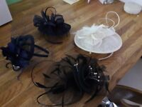 Fascinators £15 - £20 each, either on headband or hair clip. Collection from Thame