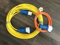 Caravan , camper van electric hook up cable heavy duty brand new over 65 feet long. With home conn