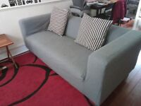 Sofa grey colour .. must go by May 31 .. fair condition